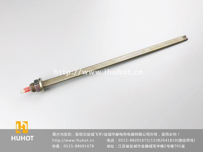 螺纹安装扁形电加热管